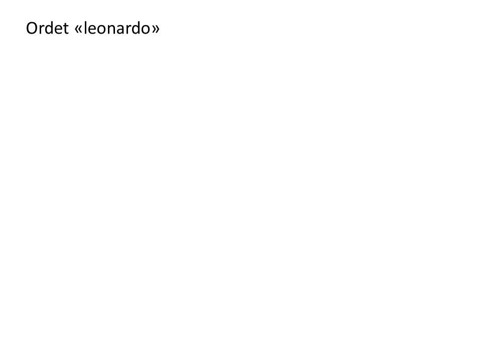 Ordet «leonardo»