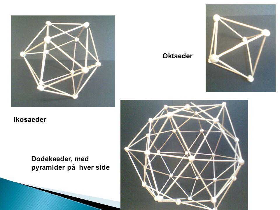 Oktaeder Ikosaeder Dodekaeder, med pyramider på hver side