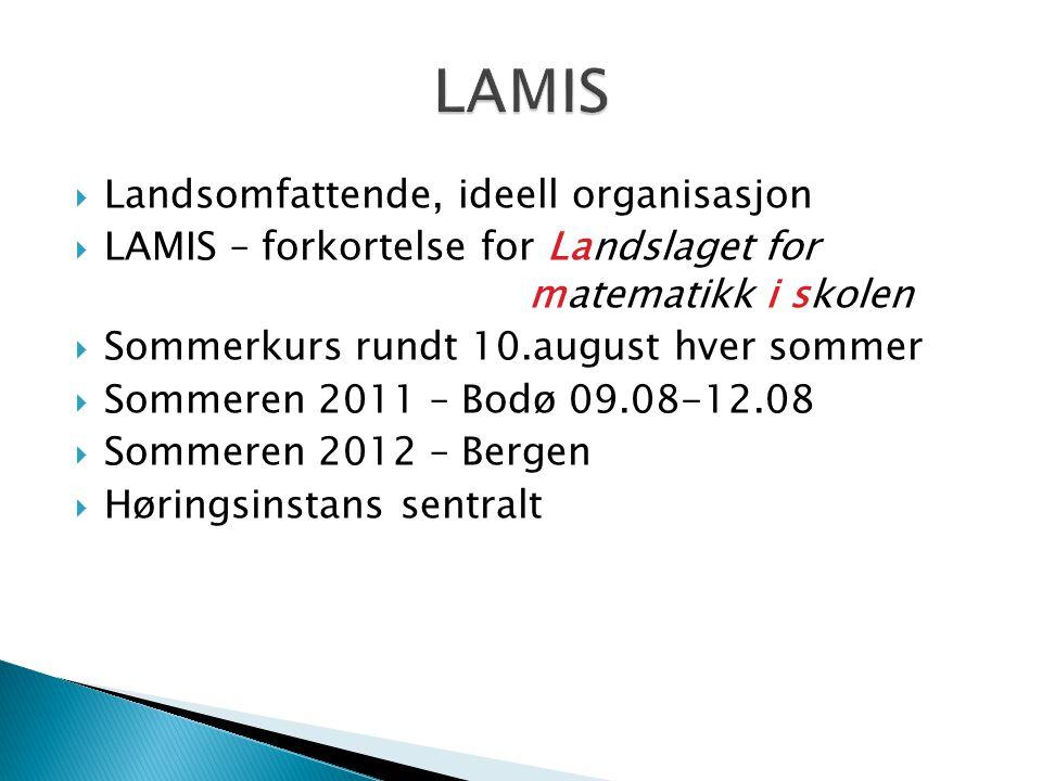 LAMIS Landsomfattende, ideell organisasjon