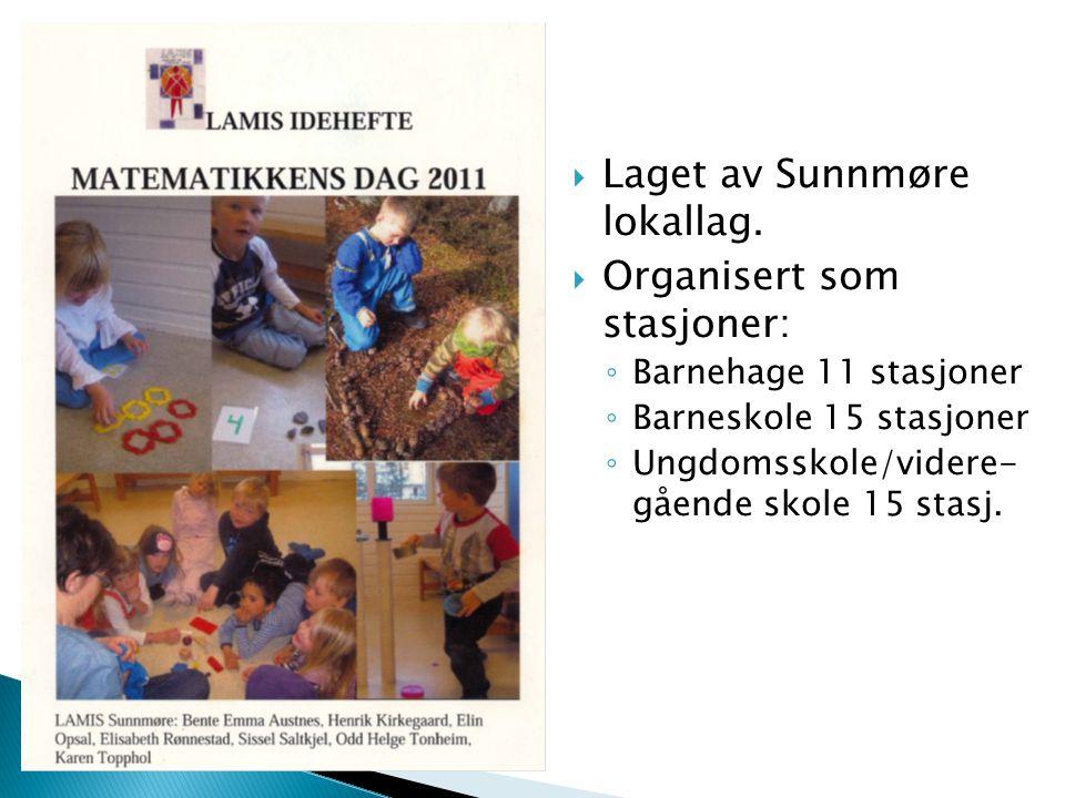 Laget av Sunnmøre lokallag. Organisert som stasjoner: