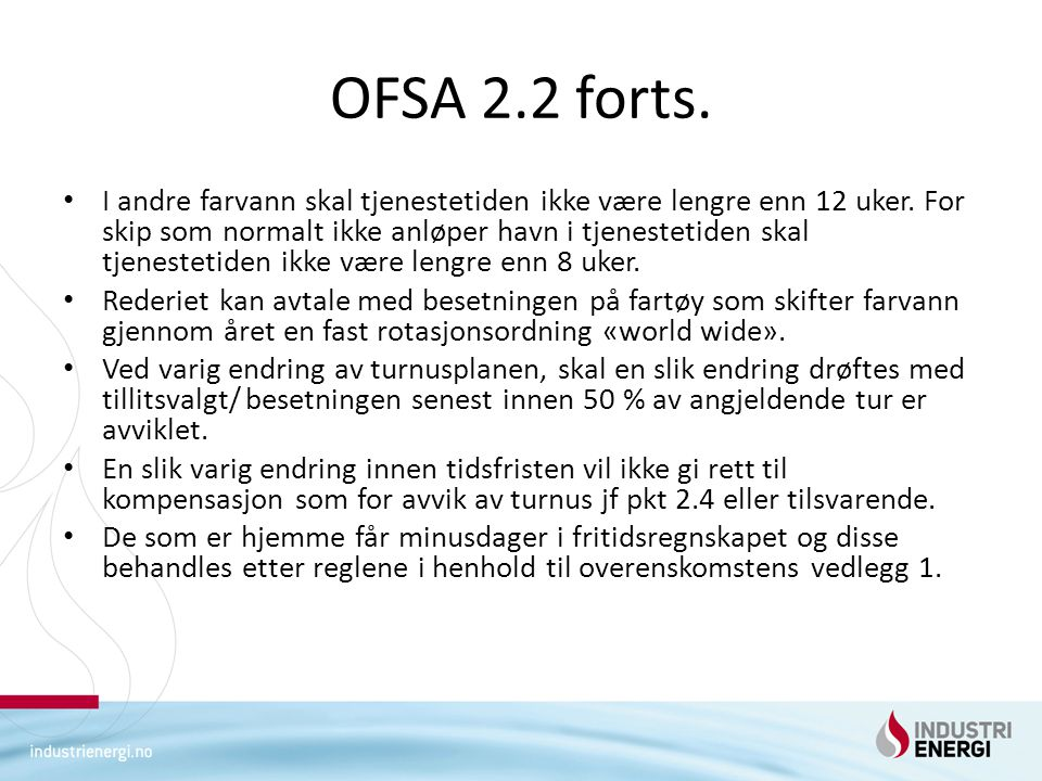 OFSA 2.2 forts.