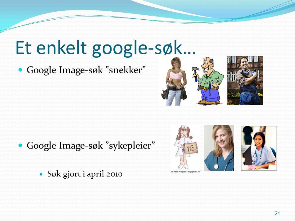 Et enkelt google-søk… Google Image-søk snekker