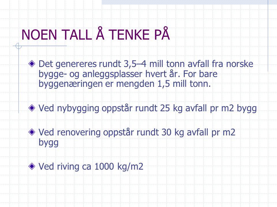 NOEN TALL Å TENKE PÅ