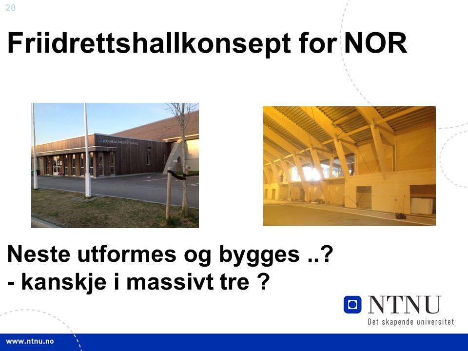 Friidrettshallkonsept for NOR