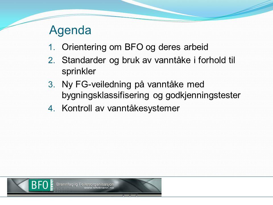 Agenda Orientering om BFO og deres arbeid