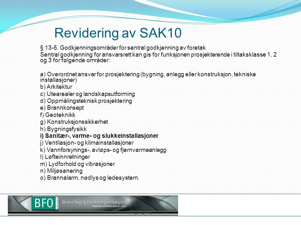 Revidering av SAK10
