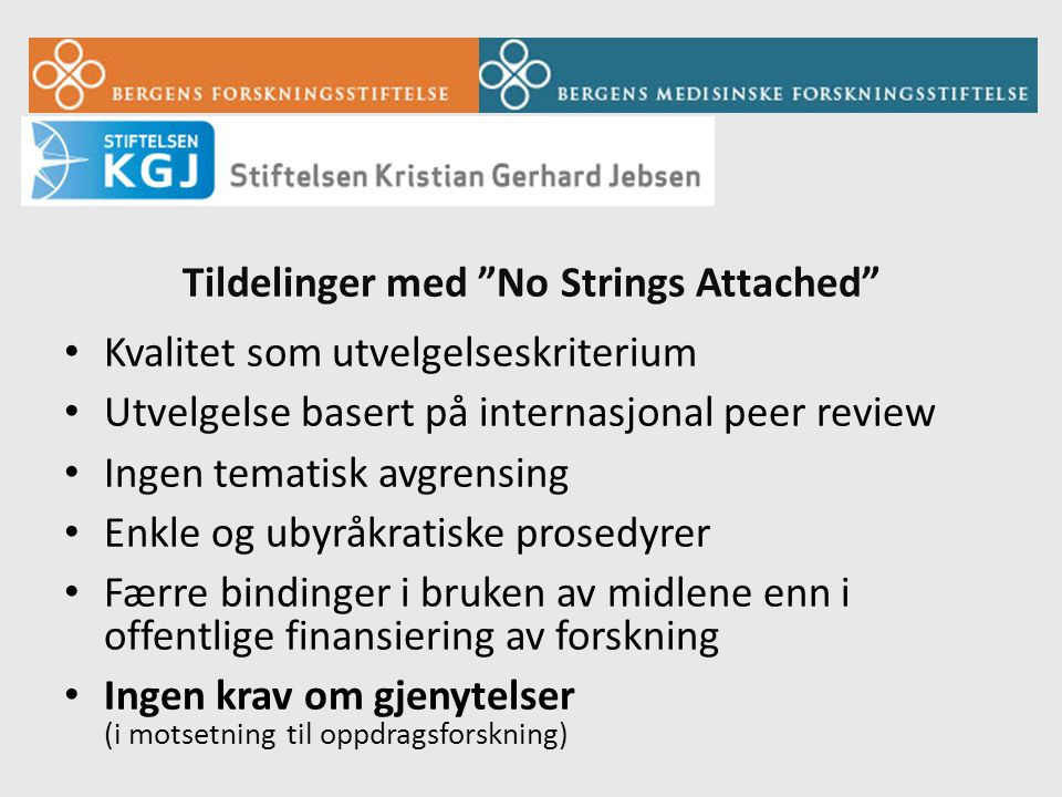 Tildelinger med No Strings Attached