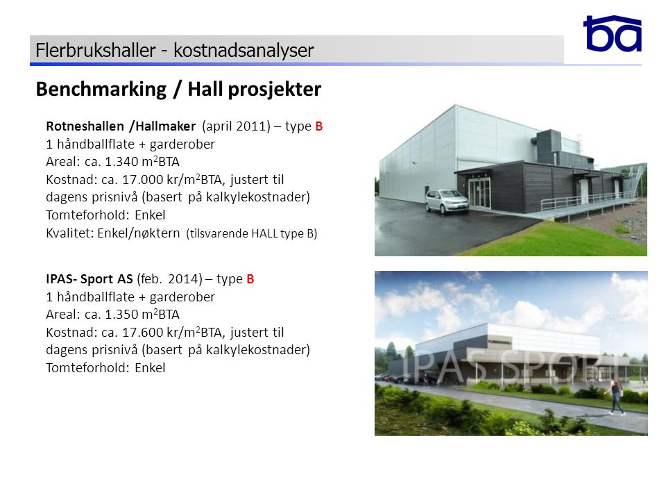 Benchmarking / Hall prosjekter