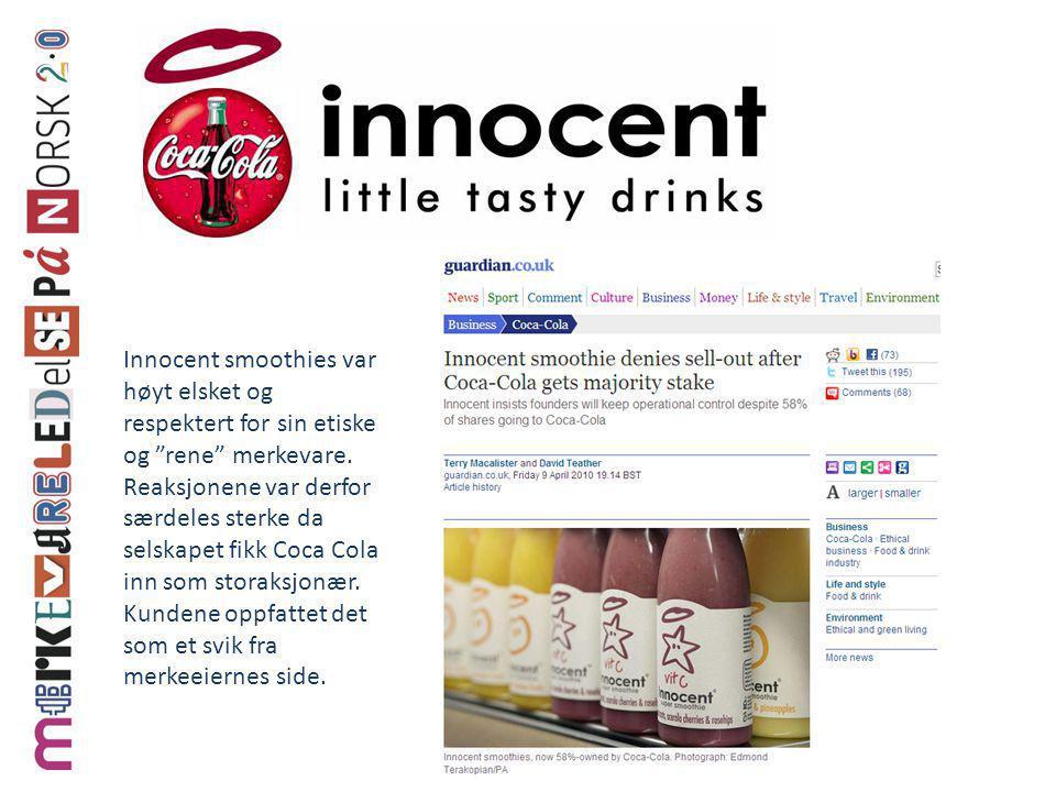 Innocent smoothies var høyt elsket og respektert for sin etiske og rene merkevare.