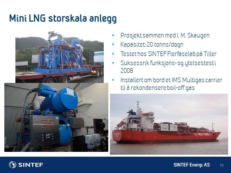 Mini LNG storskala anlegg