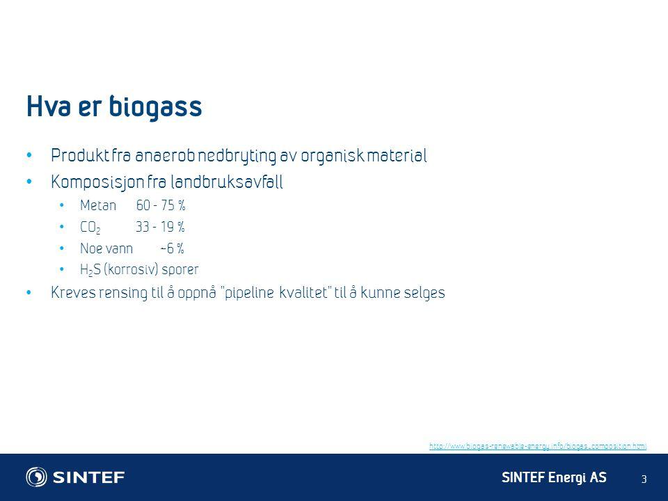 Hva er biogass Produkt fra anaerob nedbryting av organisk material