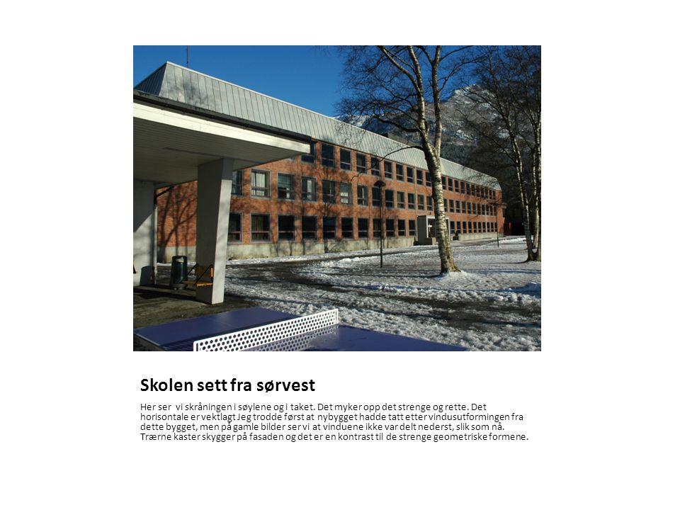 Skolen sett fra sørvest