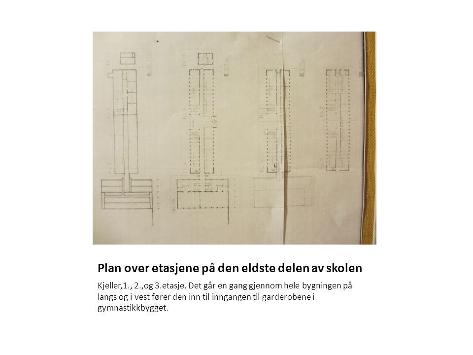 Plan over etasjene på den eldste delen av skolen