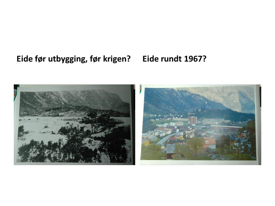Eide før utbygging, før krigen