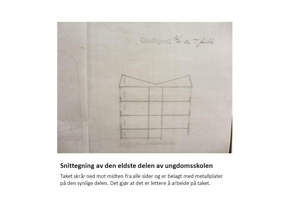 Snittegning av den eldste delen av ungdomsskolen