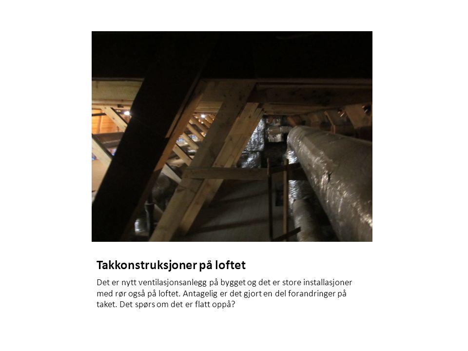 Takkonstruksjoner på loftet