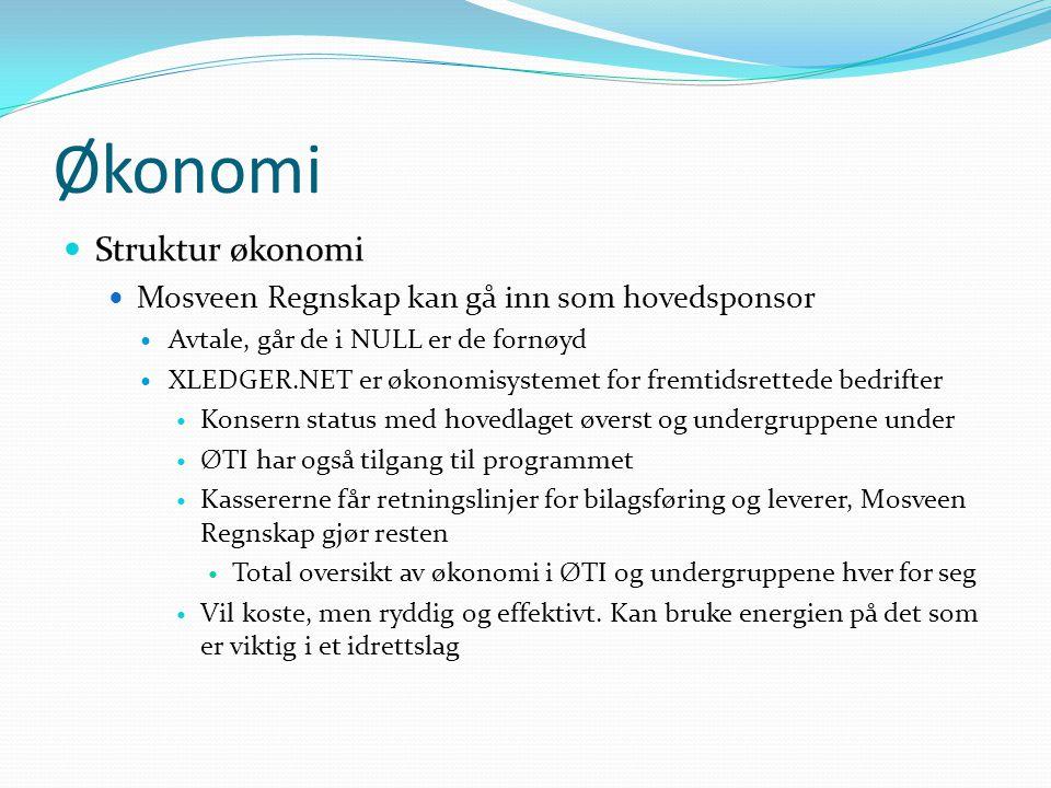 Økonomi Struktur økonomi Mosveen Regnskap kan gå inn som hovedsponsor