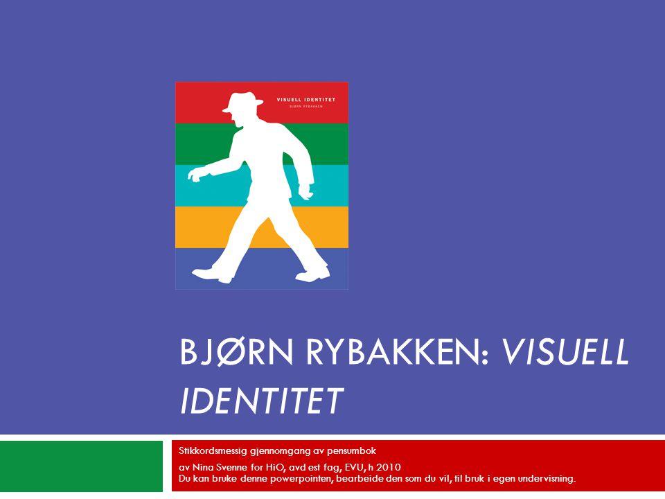 Bjørn Rybakken: Visuell identitet