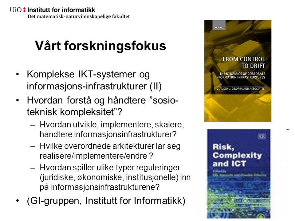 Informasjons-infrastrukturer (II)