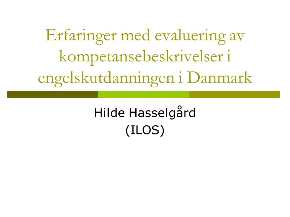 Hilde Hasselgård (ILOS)