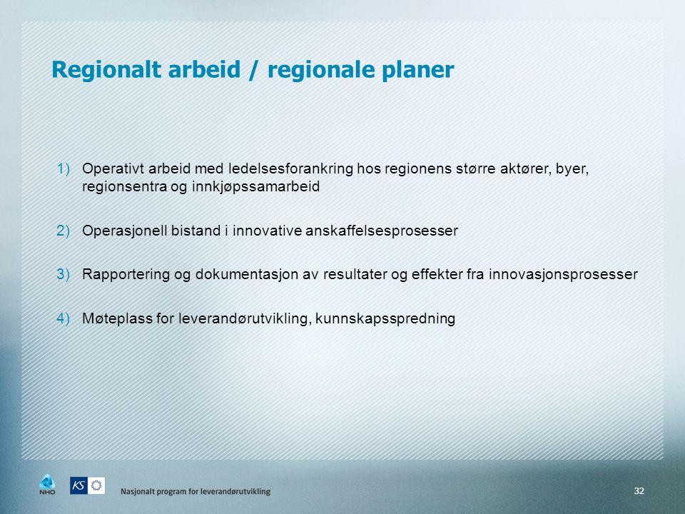 Regionalt arbeid / regionale planer