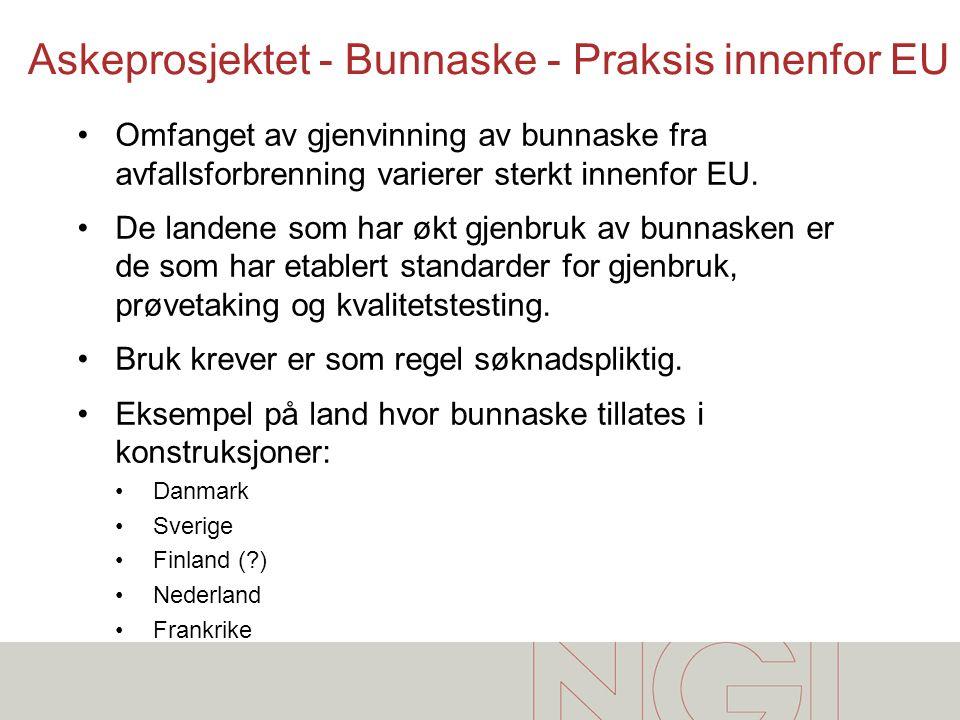 Askeprosjektet - Bunnaske - Praksis innenfor EU