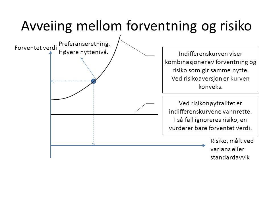 Avveiing mellom forventning og risiko
