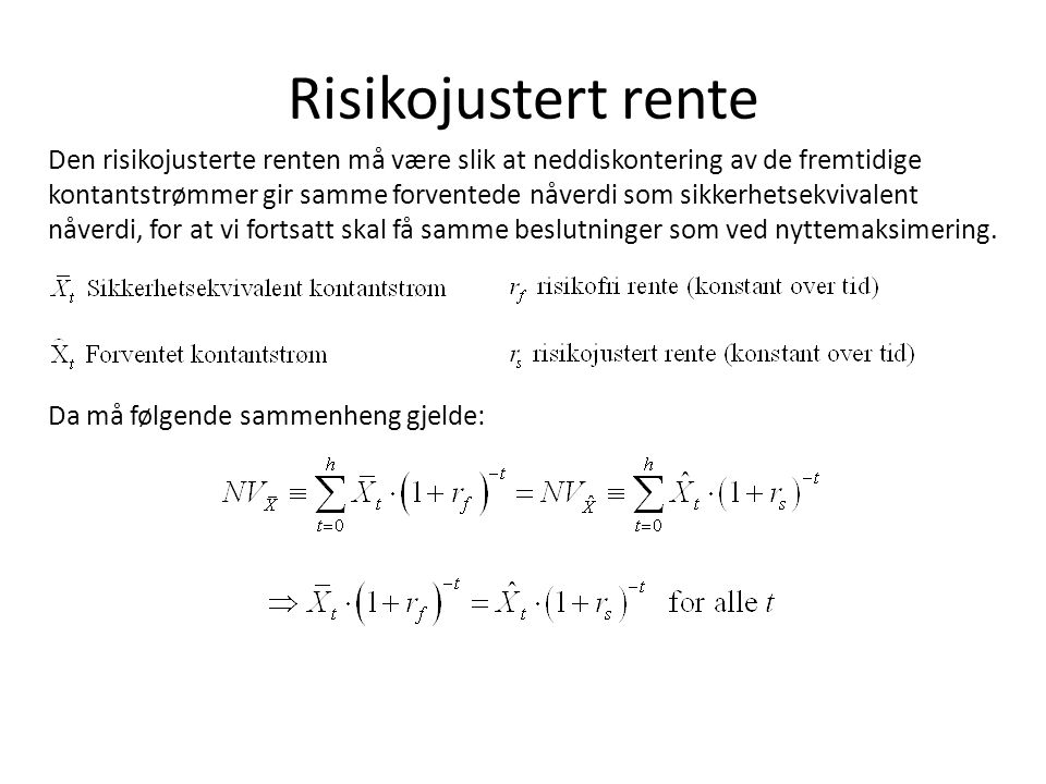 Risikojustert rente