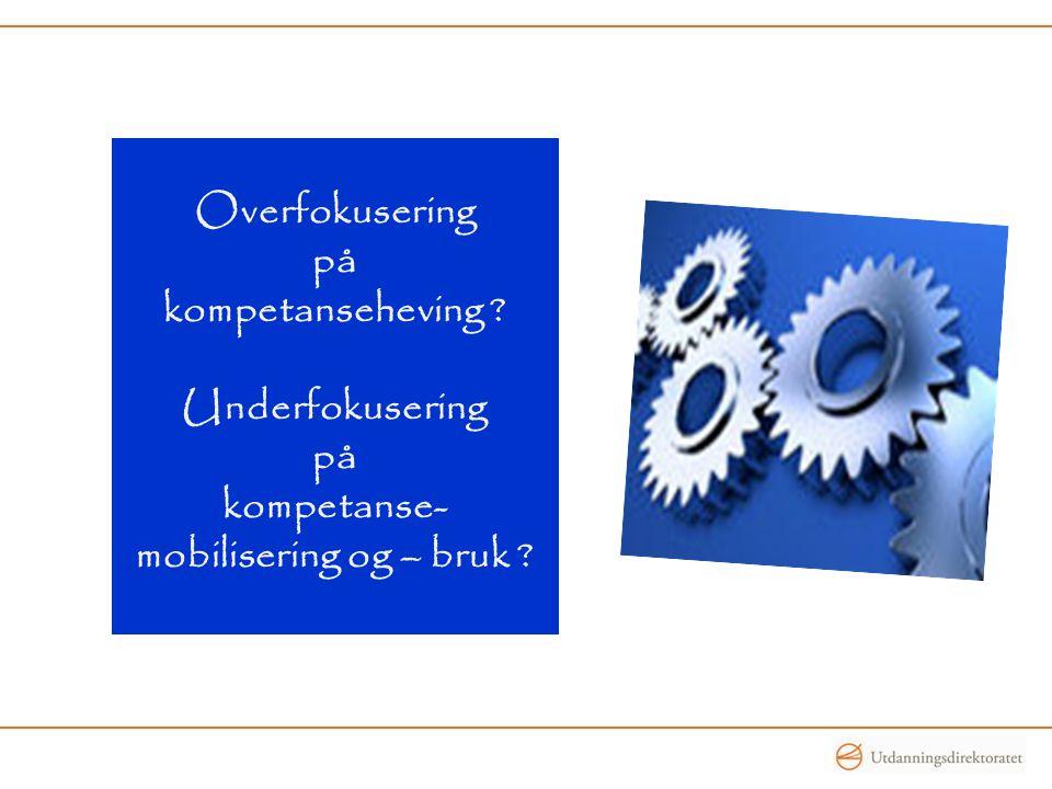 Overfokusering på kompetanseheving