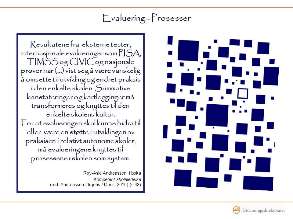 Evaluering - Prosesser