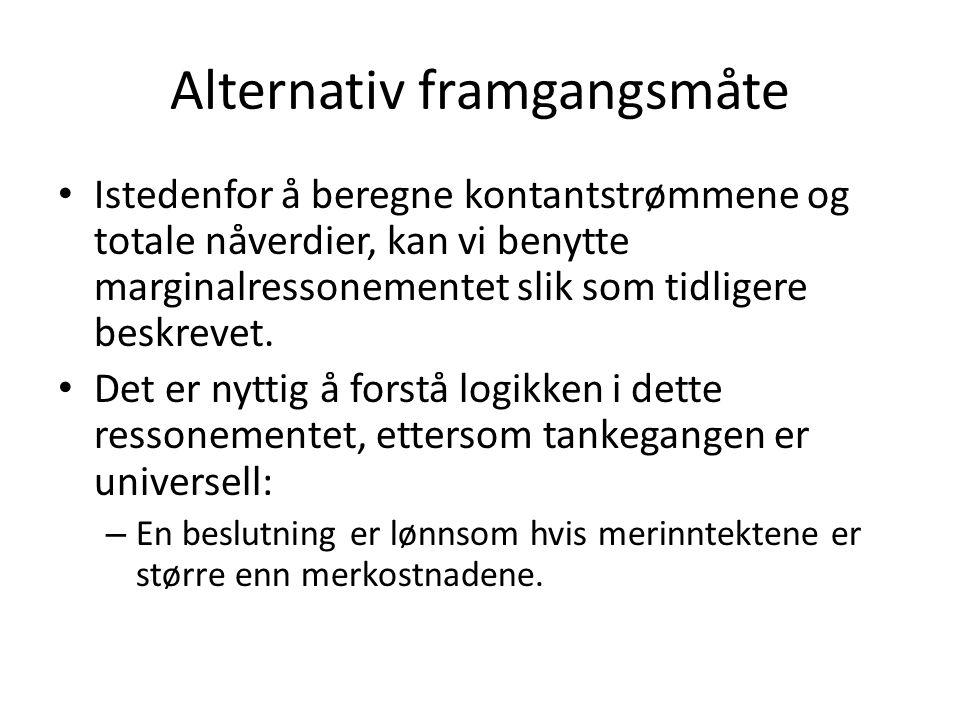 Alternativ framgangsmåte