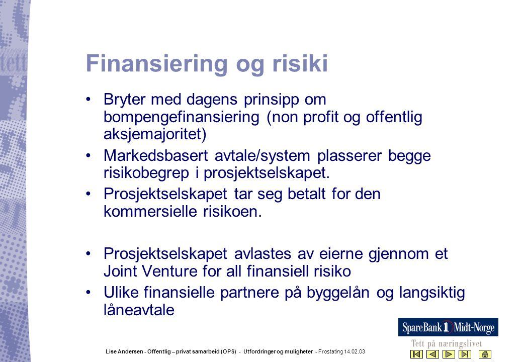 Finansiering og risiki