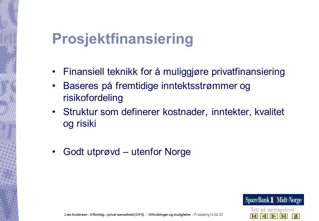 Prosjektfinansiering