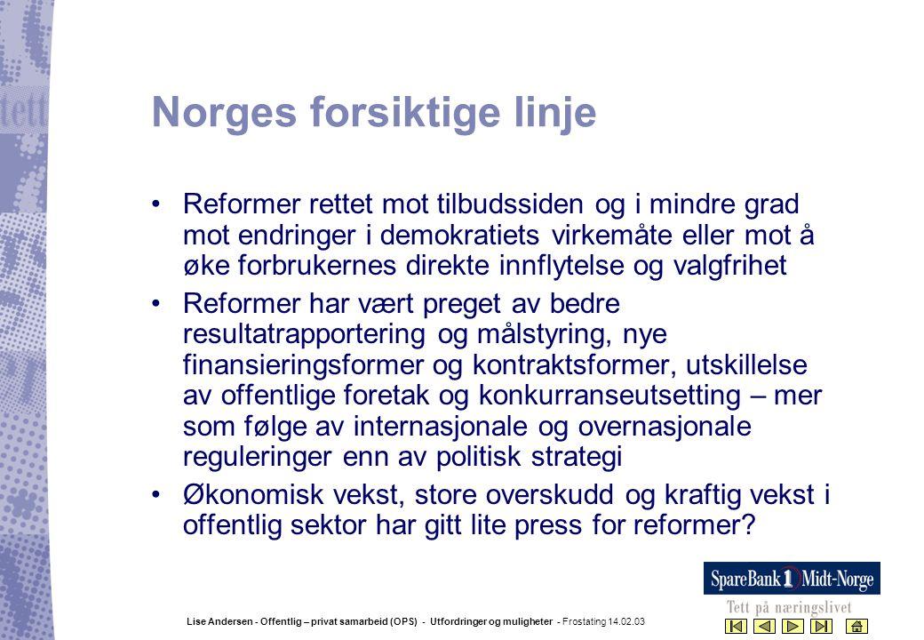 Norges forsiktige linje