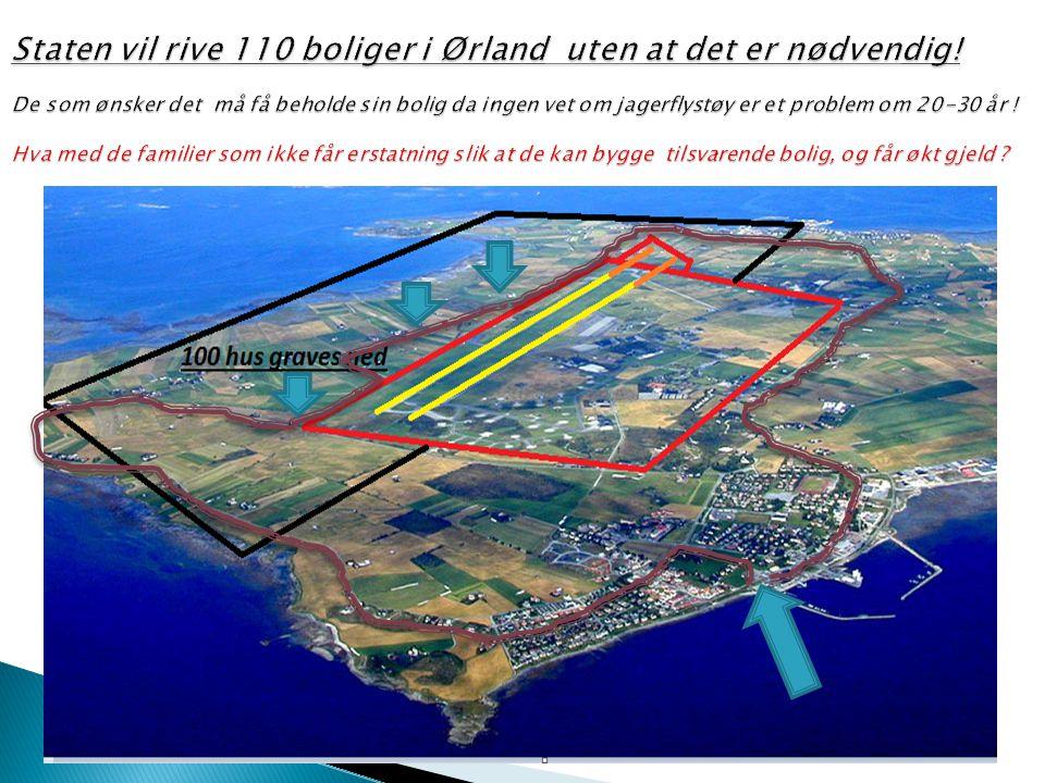 Staten vil rive 110 boliger i Ørland uten at det er nødvendig
