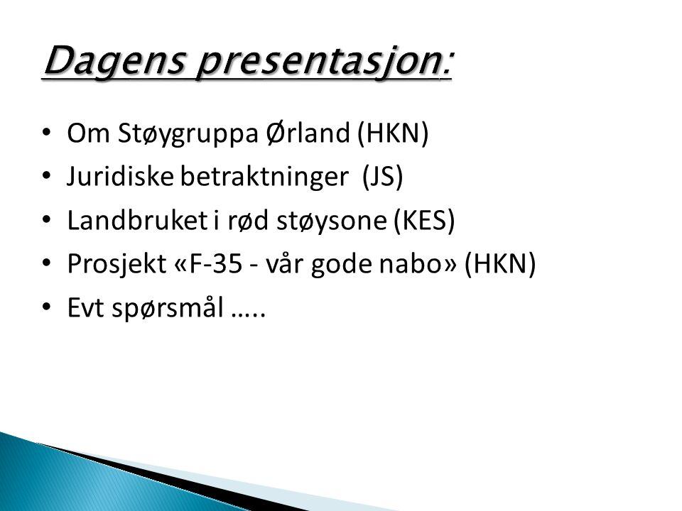 Dagens presentasjon: Om Støygruppa Ørland (HKN)