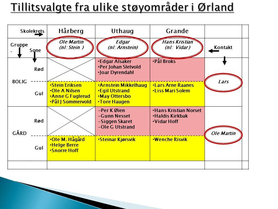 Tillitsvalgte fra ulike støyområder i Ørland