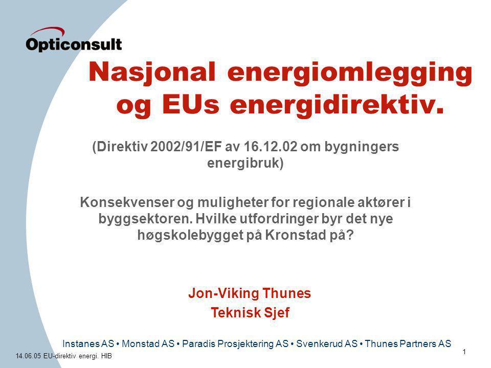 Nasjonal energiomlegging og EUs energidirektiv.