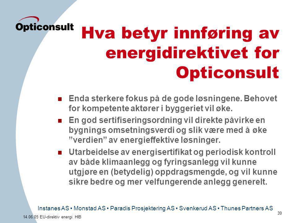 Hva betyr innføring av energidirektivet for Opticonsult