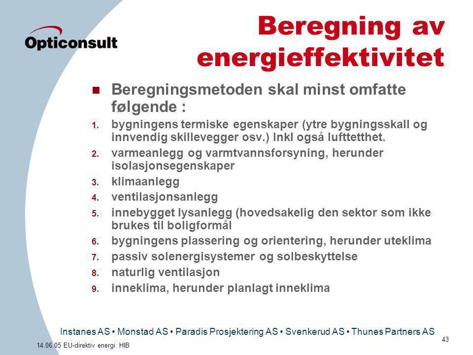 Beregning av energieffektivitet