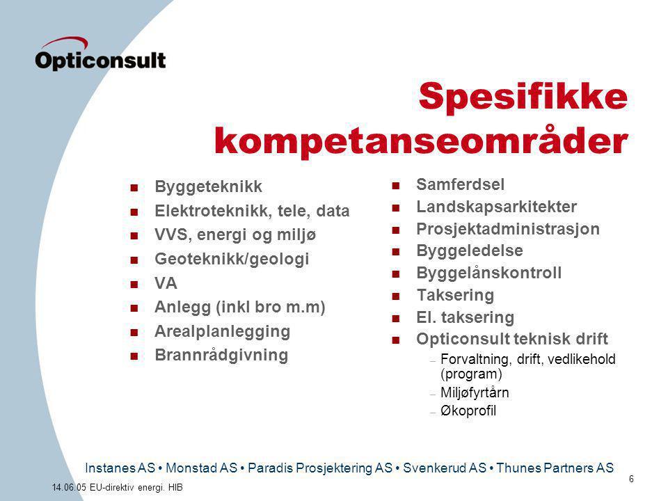 Spesifikke kompetanseområder