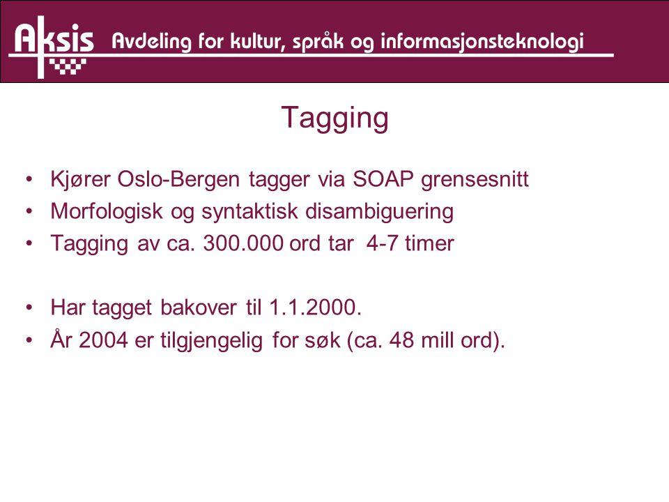 Tagging Kjører Oslo-Bergen tagger via SOAP grensesnitt