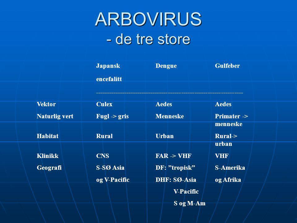 ARBOVIRUS - de tre store
