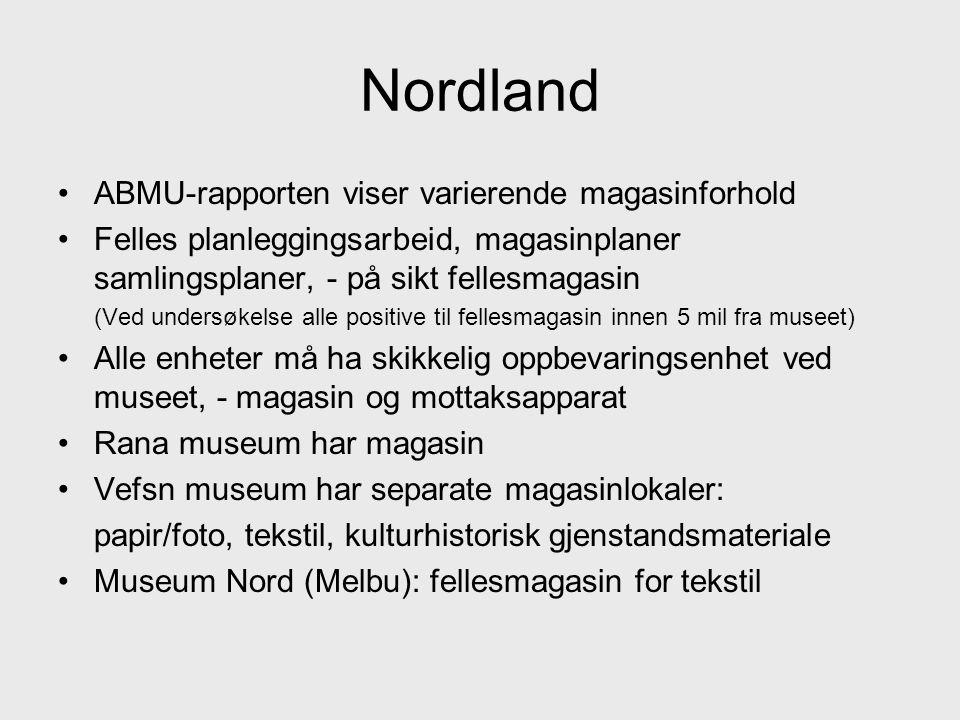 Nordland ABMU-rapporten viser varierende magasinforhold