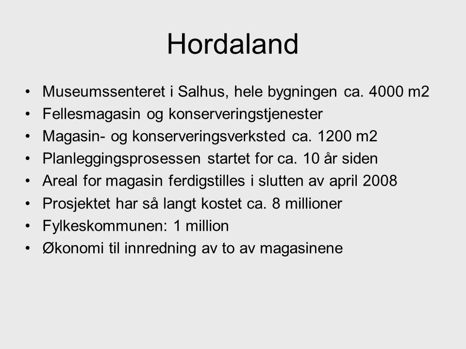 Hordaland Museumssenteret i Salhus, hele bygningen ca. 4000 m2