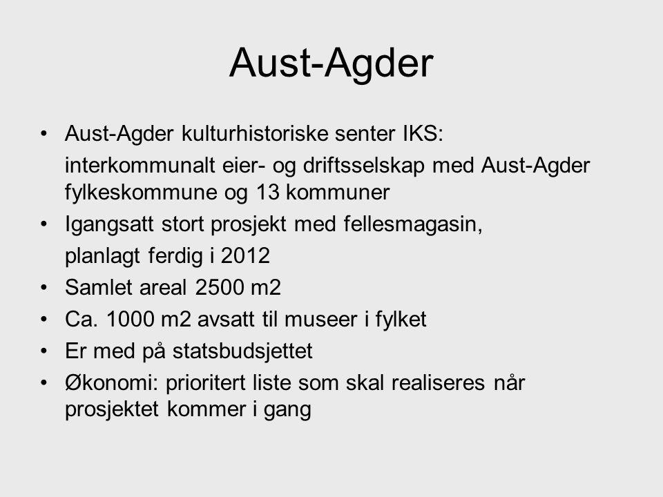 Aust-Agder Aust-Agder kulturhistoriske senter IKS: