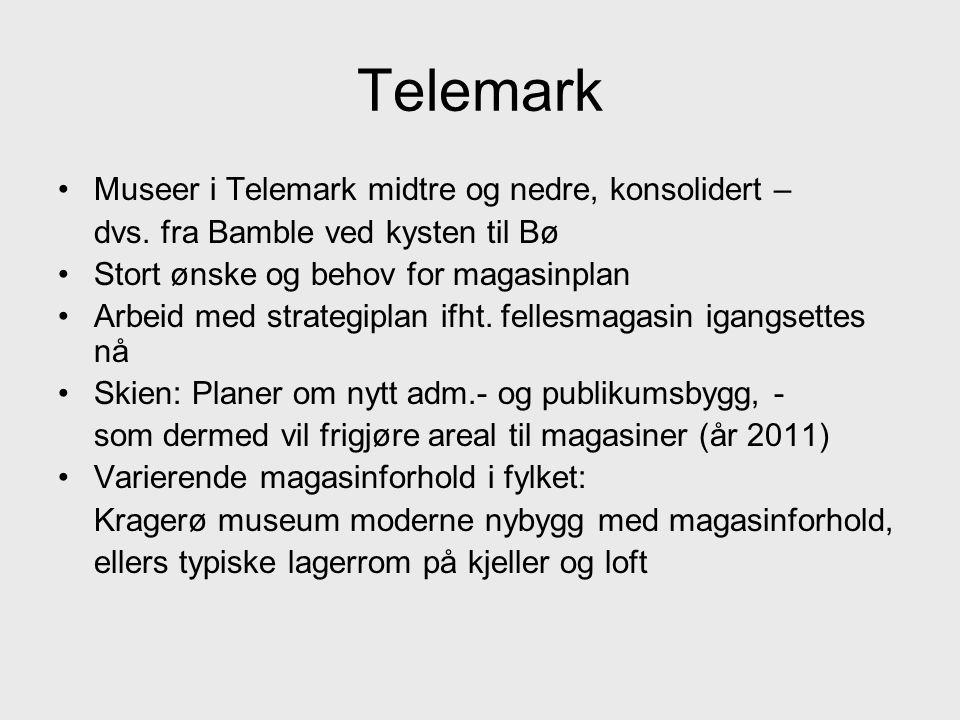 Telemark Museer i Telemark midtre og nedre, konsolidert –
