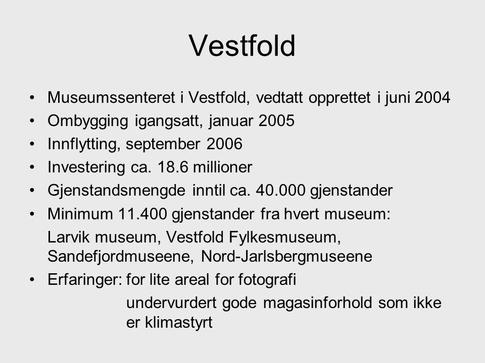 Vestfold Museumssenteret i Vestfold, vedtatt opprettet i juni 2004