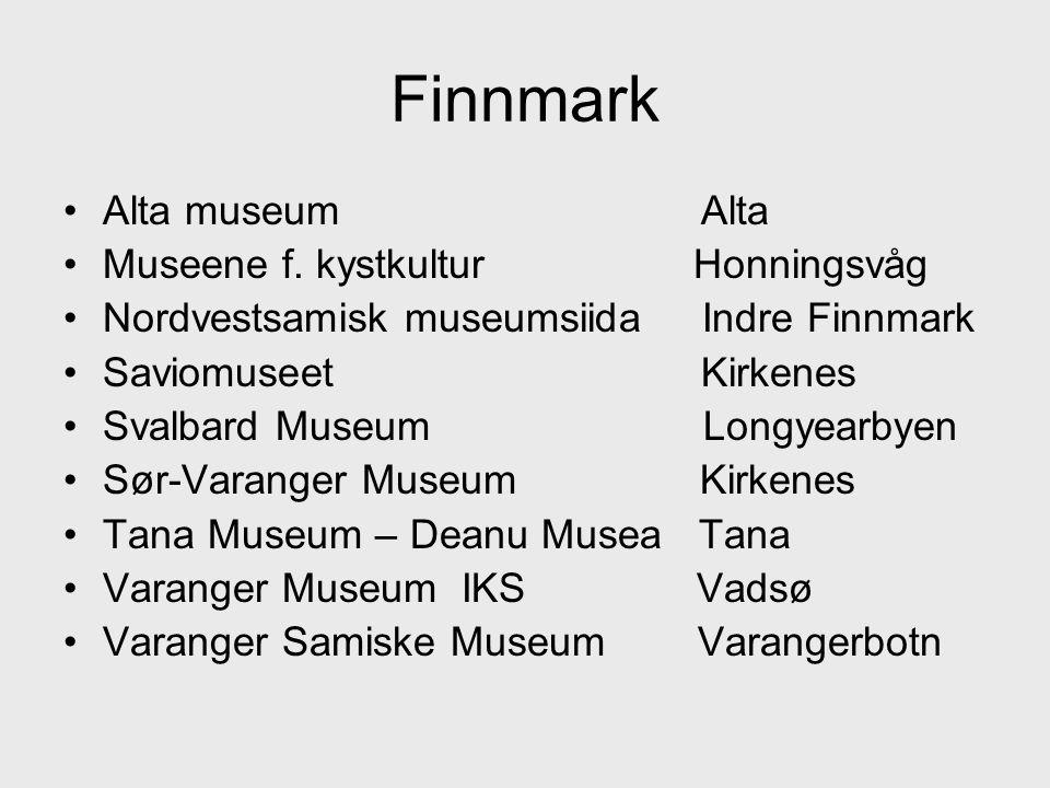 Finnmark Alta museum Alta Museene f. kystkultur Honningsvåg