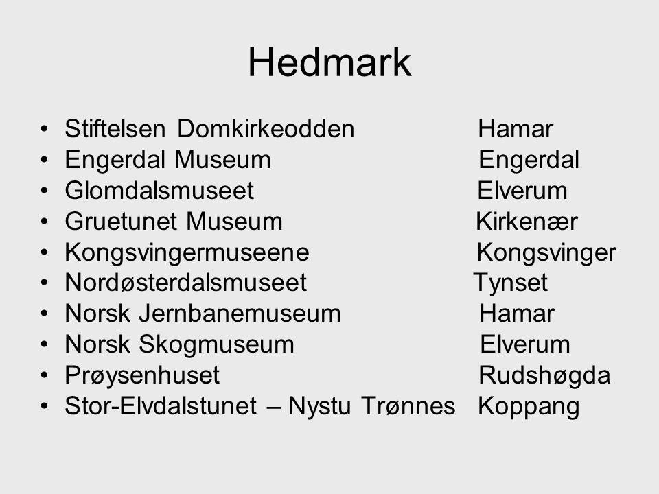 Hedmark Stiftelsen Domkirkeodden Hamar Engerdal Museum Engerdal